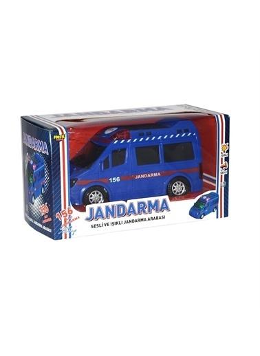 Prestij Oyuncak Pilli Işıklı Çarp Dön Sesli Oyuncak Araç 20 Cm Ambulans Renkli